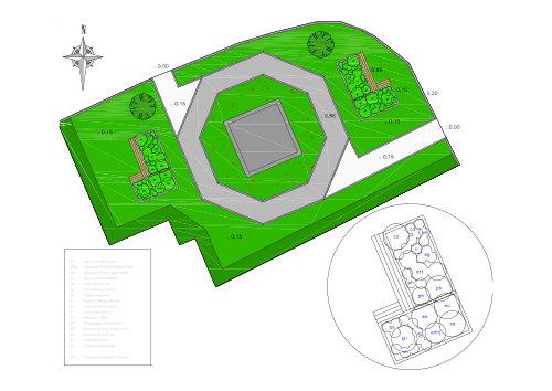 St Newlyn East War memorial plan